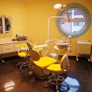 Zahnarztstuhl in Alphadent Zahnarztpraxis